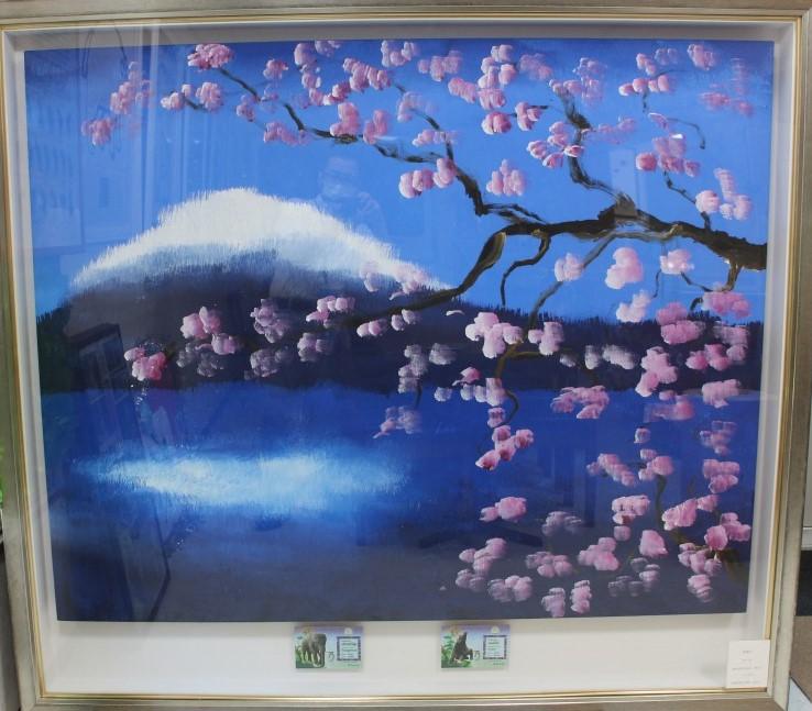 桜富士①の画像